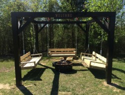 How To Build Fire Pit Swing Set - The Owner-Builder Network