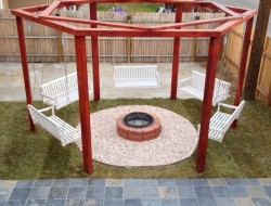 Swing Set around a Fire Pit - Denver Staging Design
