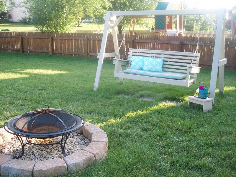 Fire Pit Swing Set - Thrifty Decor Mom