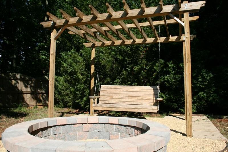 Swing/Firepit/Pergola - Horsepower Junkies - Fire Pit Swing Sets The Owner-Builder Network