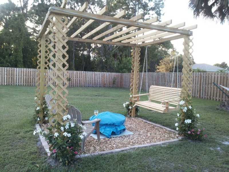 Swing/Firepit/Pergola - Judy Denis - Fire Pit Swing Sets The Owner-Builder Network