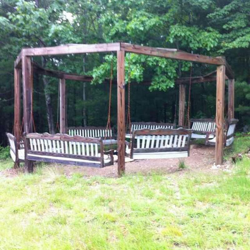 Fire pit swing sets the owner builder network for Diy adult swing set