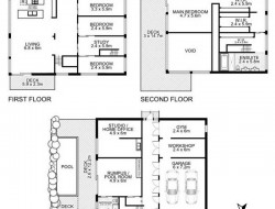 31 container home in Brisbane Australia - Floorplan