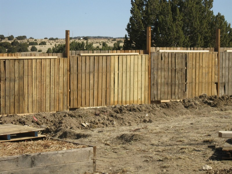 Pallet Fence in the Upper Garden - One Little Farm