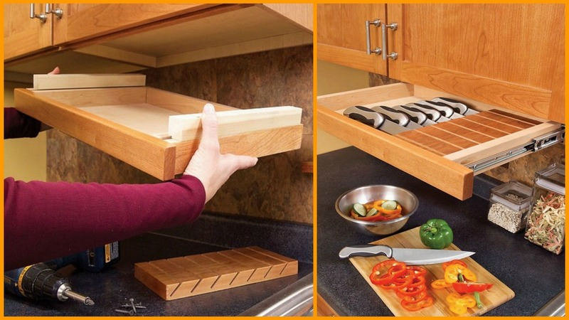 under cabinet storage easy diy kitchen storage ideas the owner builder network 12379
