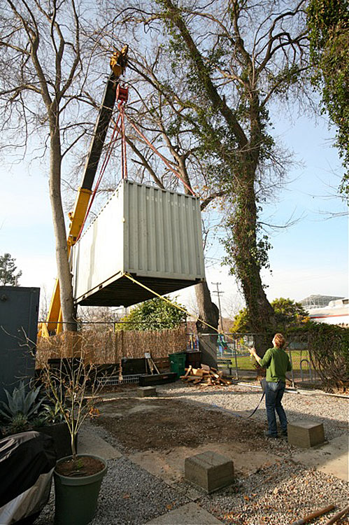 Schoup shipping container conversion