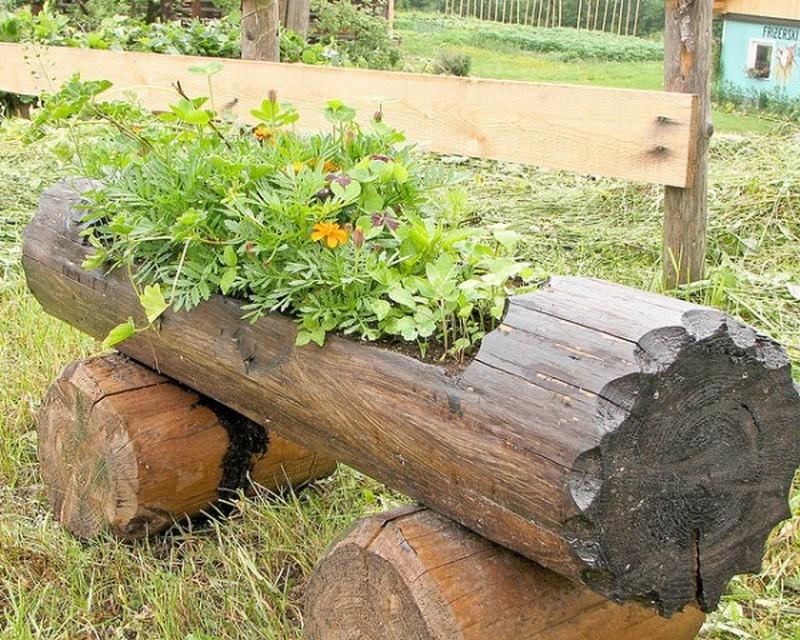 Hollowed Log Planter - Goods Home Design