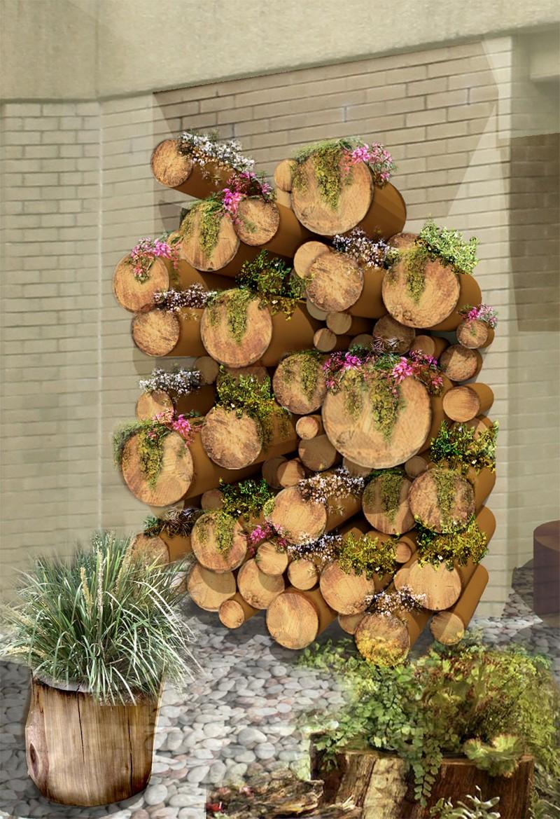 Upcycled tree stump and log ideas diy tree stump - Garden log decorations ...
