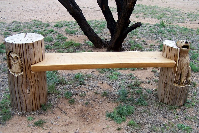 Western Red Cedar Bench - Terry's Carvings