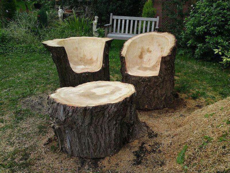 Tree Stump Furniture Set - Robynn Peslar