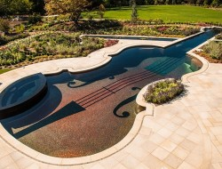 Stradivarius Violin Replica Swimming Pool - decoist