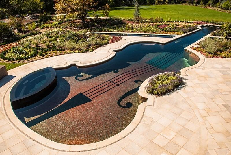 Stradivarius Violin Replica Swimming Pool - decoist