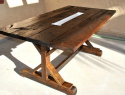 DIY Farm Table with Beer/Wine Coolers - The Owner-Builder Network