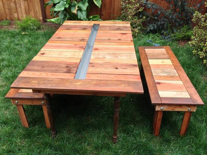 DIY Reclaimed Wood Picnic Table - Katie Jackson Woodworks