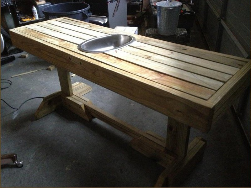 Picnic Table with Built-in Wine Cooler - Lumber Jocks