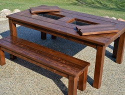 Patio Table with Built-in Ice Boxes - Remodelaholic