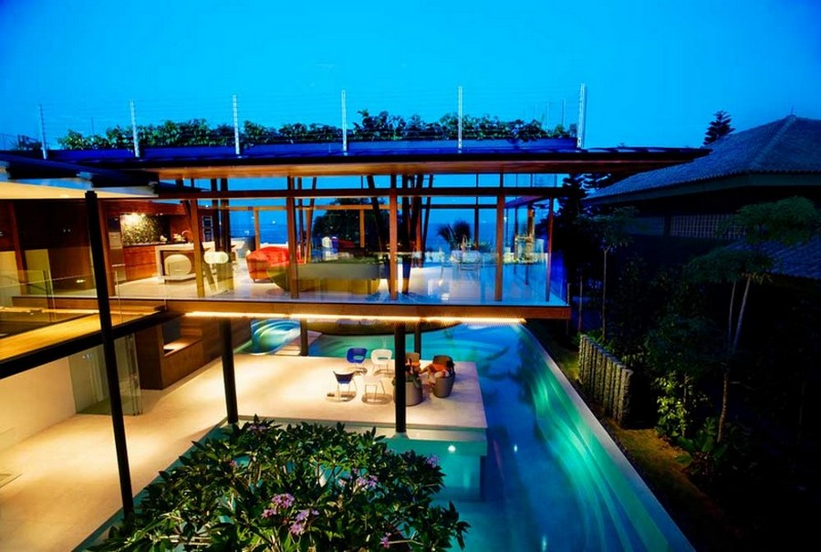 The Fish House Singapore. Glass Swimming Pool   Architecturelands