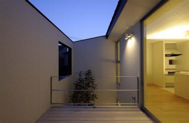 This small courtyard provides privacy from the outside world