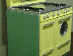 Green & Yellow Western Holly Stove - AntiqueGasStoves