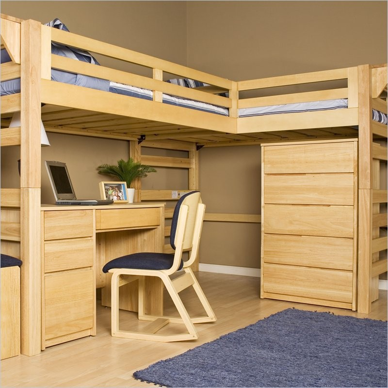 Loft beds with desks the owner builder network for How to make a loft room