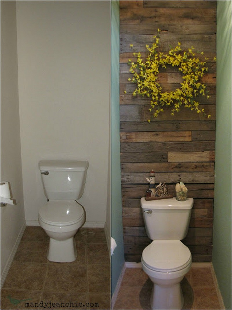 Pallet Wall Bathroom Pallet Wall Projects