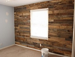 DIY Pallet Accent Wall - The Owner-Builder Network