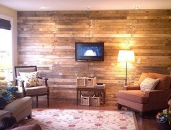 DIY Scrap Wood Pallet Wall - Apartment Therapy