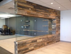 Reclaimed Pallet Wood Paneling - Sustainable Lumber Co.
