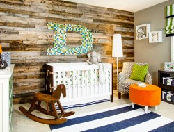Eclectic Wood-Paneled Nursery - J and J Design Group