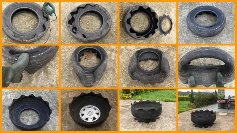 DIY Tire Planter - The Owner-Builder Network