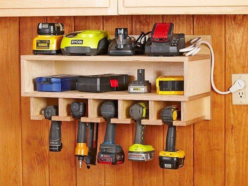 Beautiful Storage Idea For Power Tools
