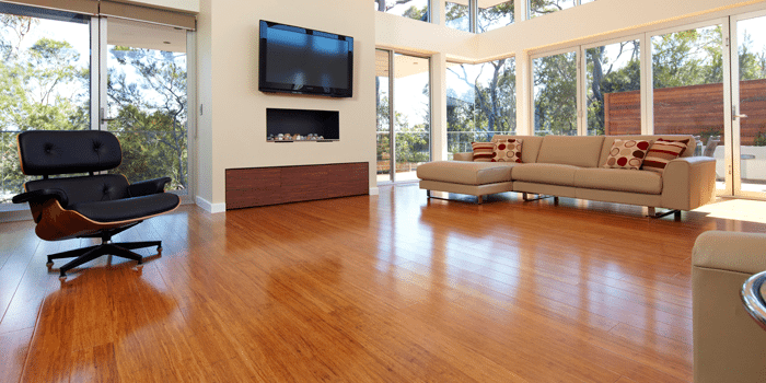 Bamboo flooring is very durable and available in a range of colours
