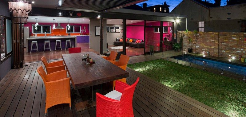 The amalgamation of two homes provides resort style living...