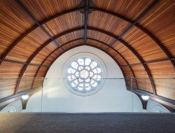 Queenscliff Church Residenial Conversion - Timber Ceiling - Stained glass window