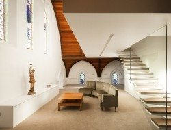 Queenscliff Church Residenial Conversion - Timber Ceiling - Living