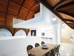 Queenscliff Church Residenial Conversion - Timber Ceiling - dining through to kitchen