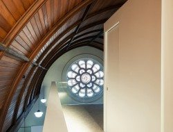 Queenscliff Church Residenial Conversion - Timber Ceiling - mezzanine hall