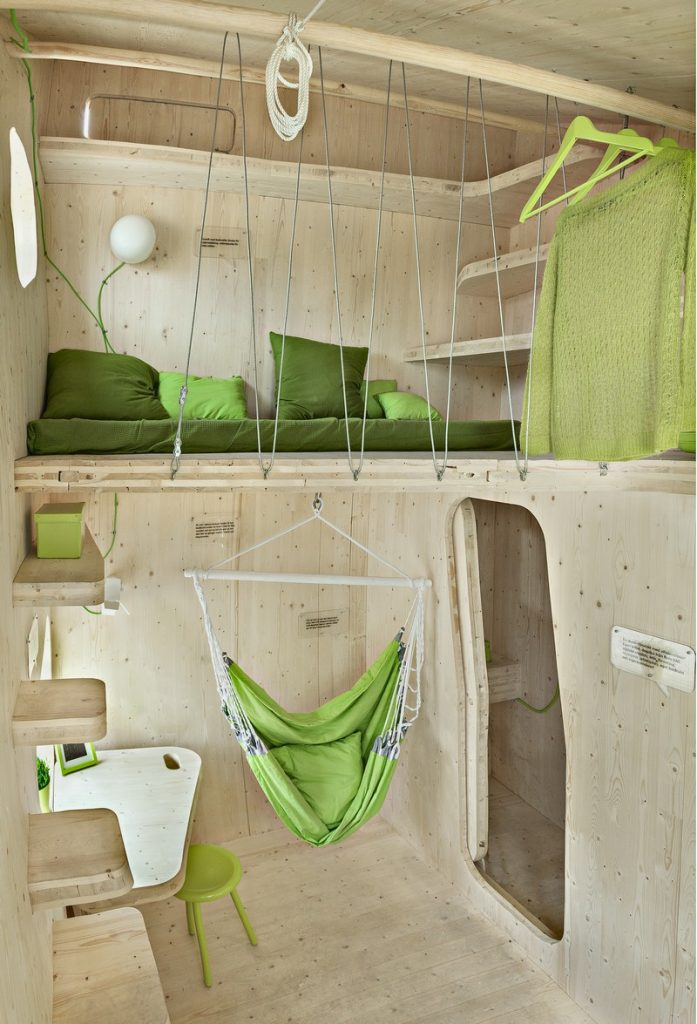 Student Housing by Tengbom - The bed area
