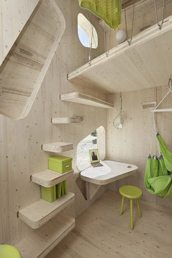 Student Housing by Tengbom - Stairs to the bed area