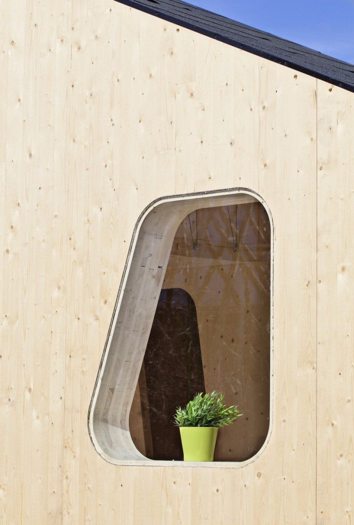 Student Housing by Tengbom - Small windows provide natural lighting