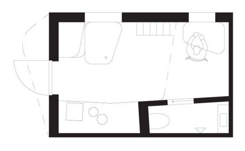 Student Housing by Tengbom - Floor Plan