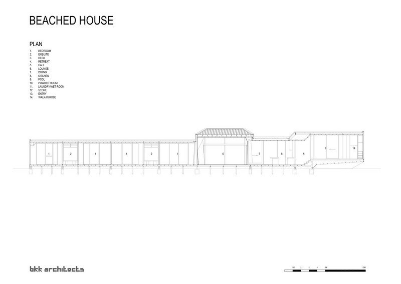 Beached House by BKK Architects - Plan