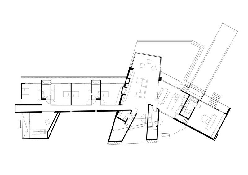 Beached House by BKK Architects - Floor Plan