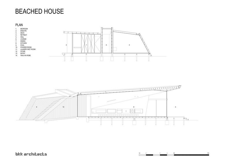 Beached House by BKK Architects - Section