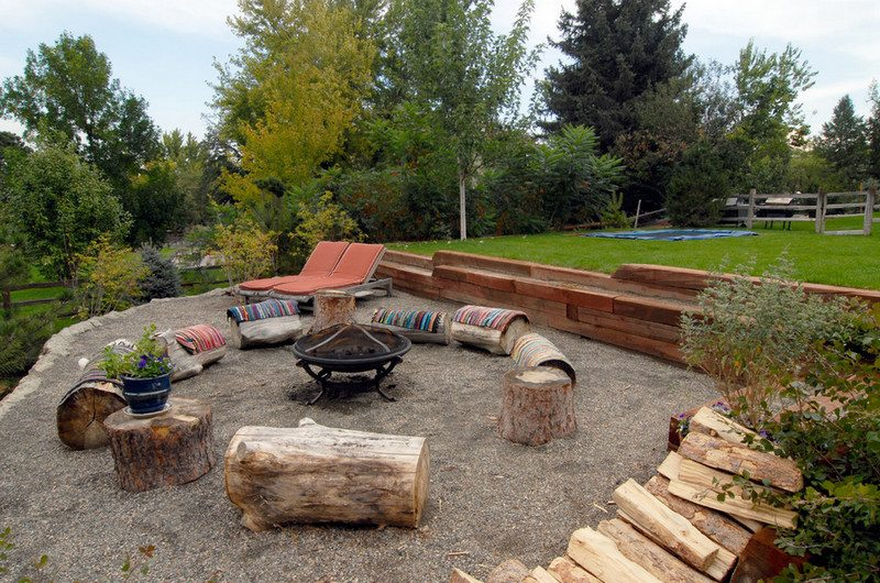 As firepit seating for you and your friends...