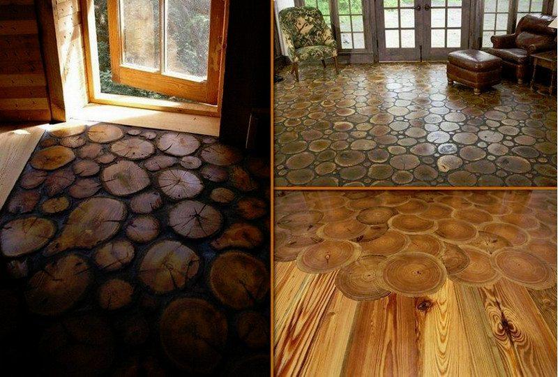 As log-end flooring...