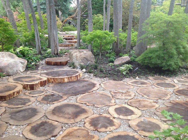 As does this log paving by Pendleton Design Management