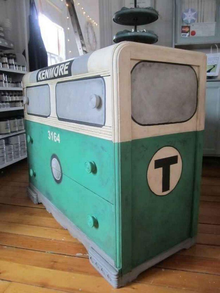 Painted Subway Car Dresser Tutorial