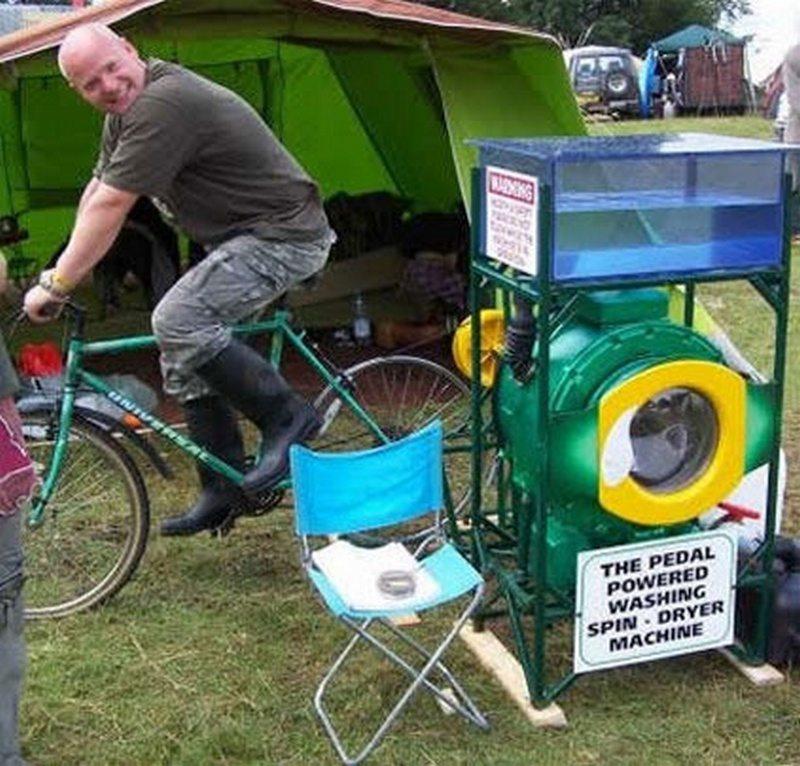 how to make a bicycle powered washing machine