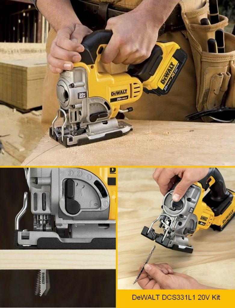 The DeWALT DCS331M1 20V Max Lithium Ion Jigsaw reeks of build quality and clever design!